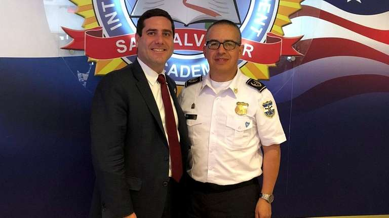 Suffolk County District Attorney Tim Sini met with