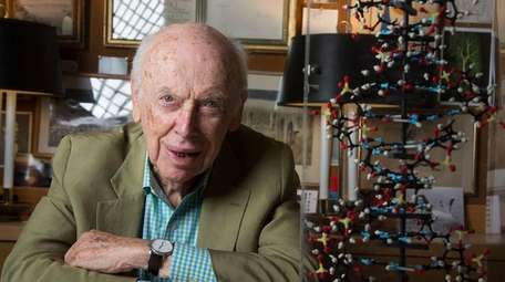 James Watson, a co-discoverer of DNA's double-helix structure,