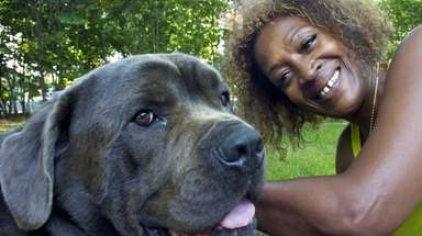Carol Swinson credits her dog, Bear, with saving