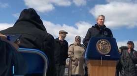 Mayor Bill de Blasio discussed on Thursday the