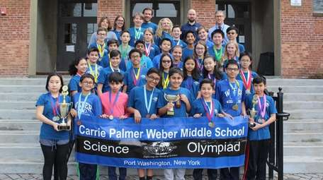 A team from Carrie Palmer Weber Middle School