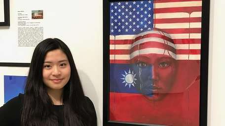 Isabelle Lin won second place for her painting,