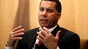 Gov. David Paterson speaks at a breakfast forum