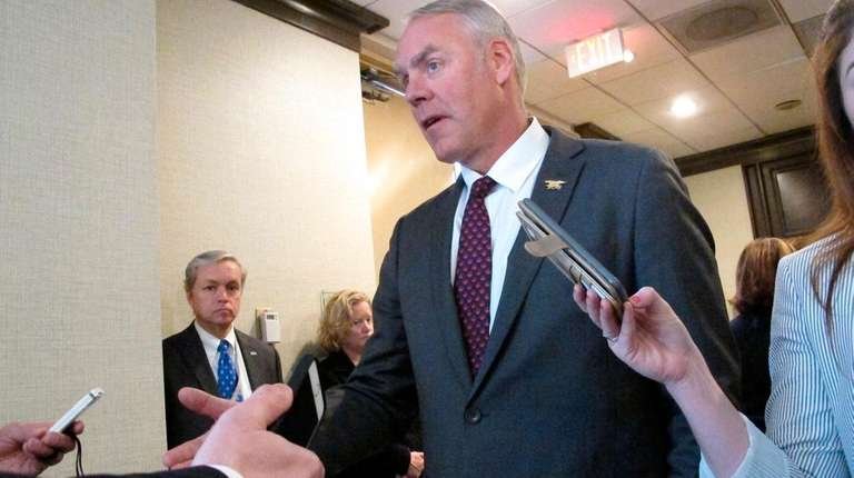 U.S. Interior Secretary Ryan Zinke speaks at an