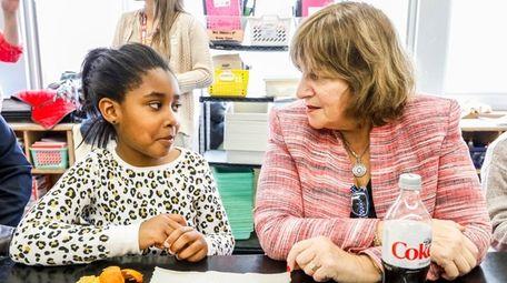 Walnut Street student Yulana Hurvey, 10, and her