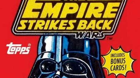 A Star Wars trading card.