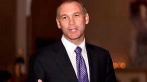 Suffolk County Legislator Steve Stern addresses supporters as