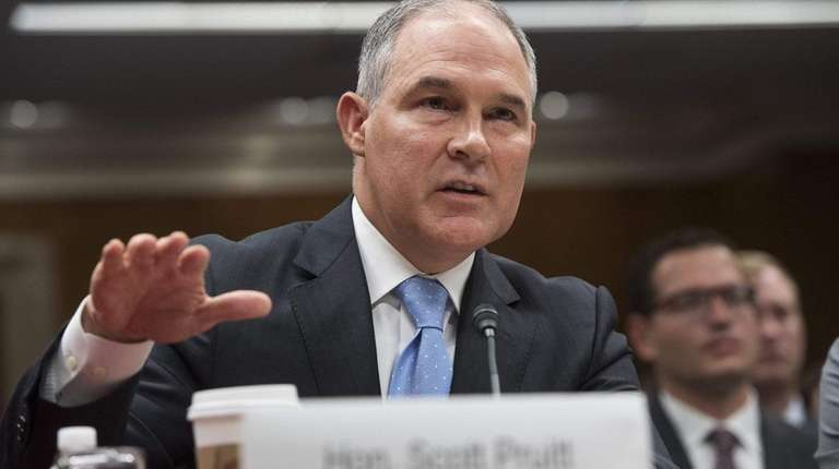 Trump says Scott Pruitt is doing a