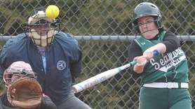 Jackie Nieman of Seaford connects for lead-off single