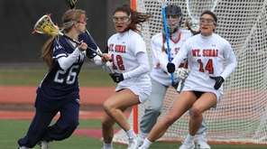 Notre Dame Prep's Hannah Mardiney can't get past