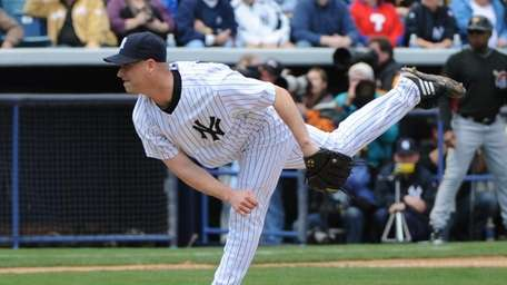 Chad Gaudin #41 of the New York Yankees
