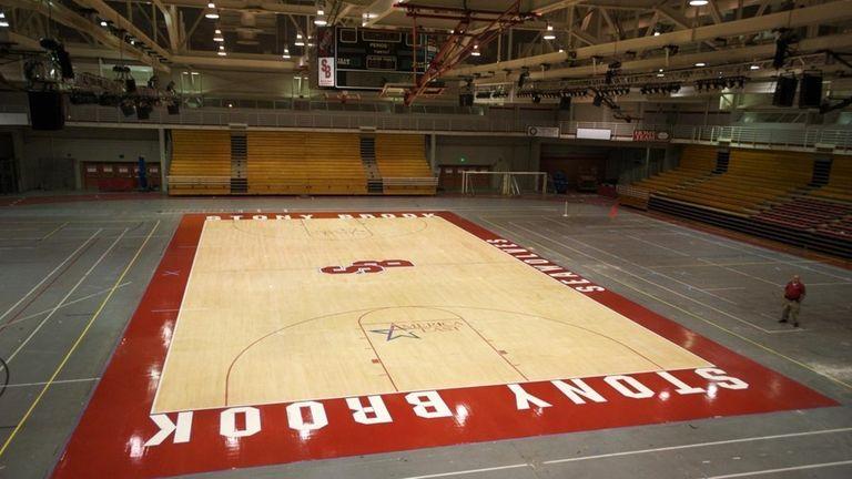 The Stony Brook University basketball court will be