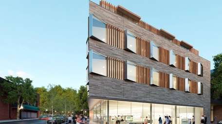 Artist's rendering of mixed-use building pitched for 16