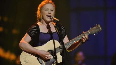 Semifininalist Crystal Bowersox performs in front of the