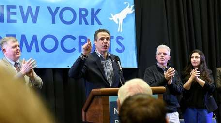 Gov. Andrew M. Cuomo speaks at a rally
