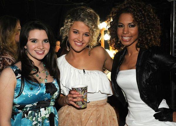 Contestants Katie Stevens, left, Katelyn Epperly and Michelle