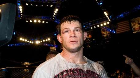 Here's a photo of Forrest Griffin walking back