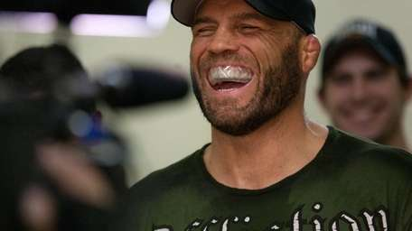Randy Couture is all smiles at UFC 109