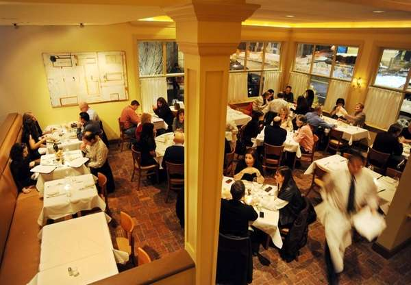 Diners enjoy the casual atmosphere of the redesigned