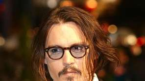 Johnny Depp attends the world premier of