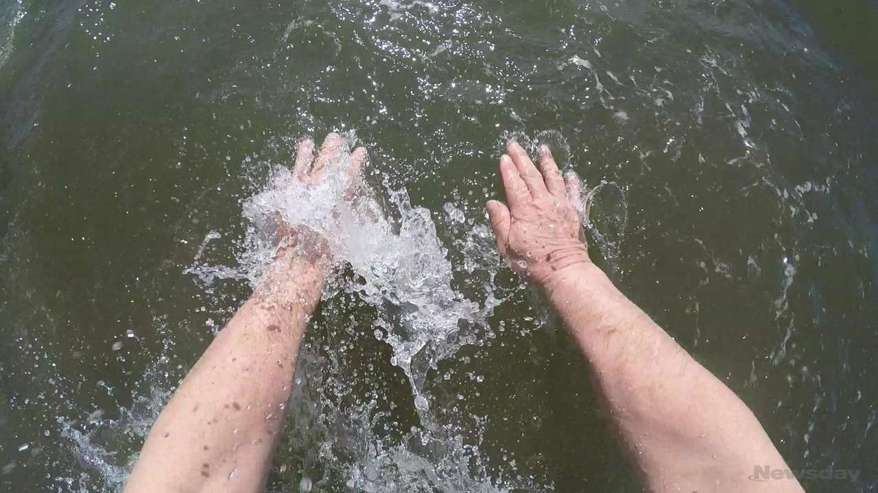 On Sunday, a polar plunge was held at