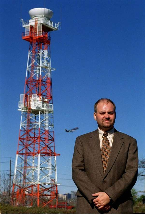 Glenn Duffy stands in 1998 near Newark Liberty