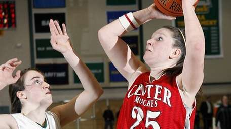 Center Moriches' Kelsey Glanzman (25) with the jumper