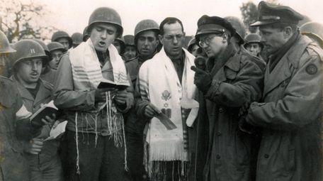 In October 1944, Max Fuchs (left, in prayer
