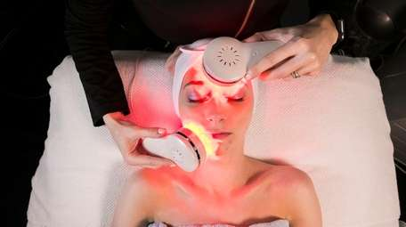 Breana Hume receives a super bright microdermabrasion facial