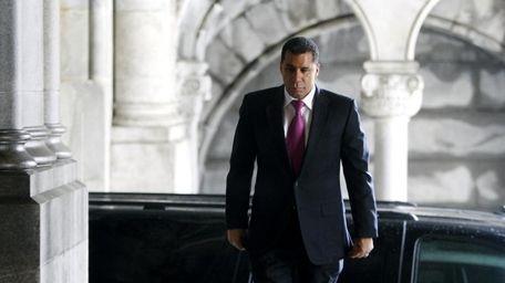 New York Gov. David Paterson arrives to the