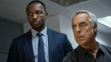 Jamie Hector, left, and Titus Welliver star in