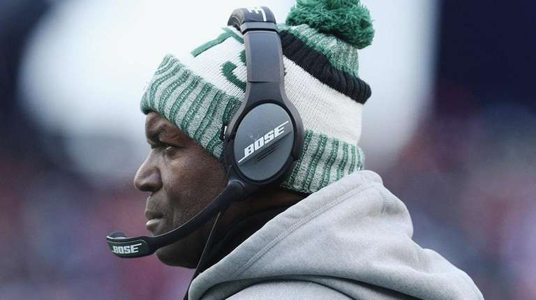 Jets head coach Todd Bowles looks on during