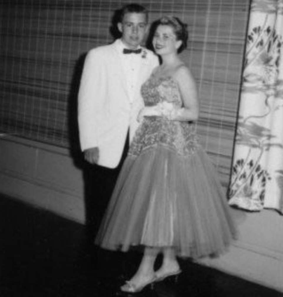 Joan McCormack and Clifford Schorer in June 1958