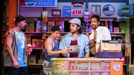 Danny Lopez, left, Nick Martinez, Spiro Marcos and