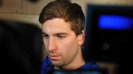 John Tavares speaks with the media after exit