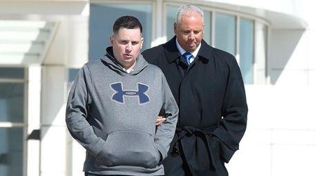 Richard Schaaf Jr., left, outside federal court in