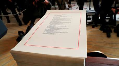 A copy of the $1.3 trillion spending bill