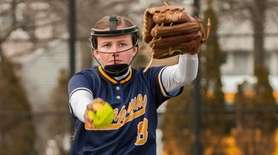 Massapequa's Lauren Utz pitches during their game vs.