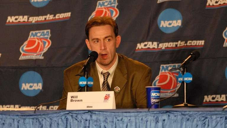 Undated photograph of Albany men's basketball coach Will