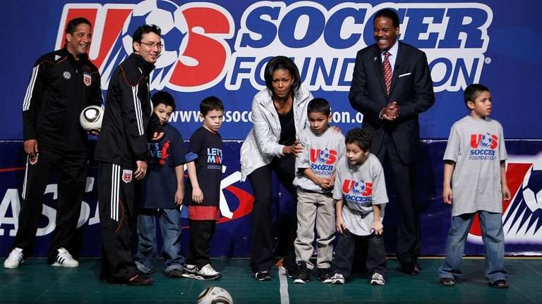 First lady Michelle Obama and U.S. Soccer Foundation