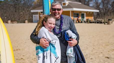 Blue Point resident Chris Clayton and his daughter