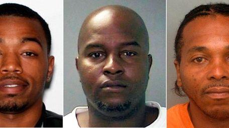 Taikeem Wheeler, 27, left, Richard Davis, 34, and