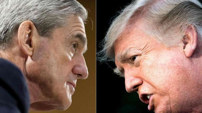 Special council Robert Mueller and President Donald Trump
