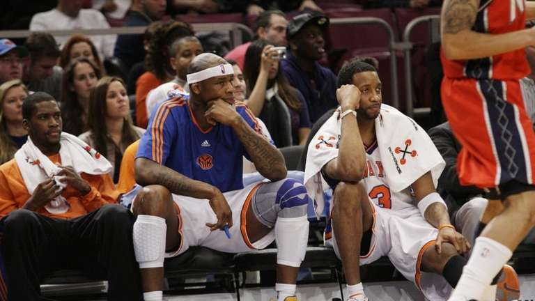 From left to right, New York Knicks' Toney