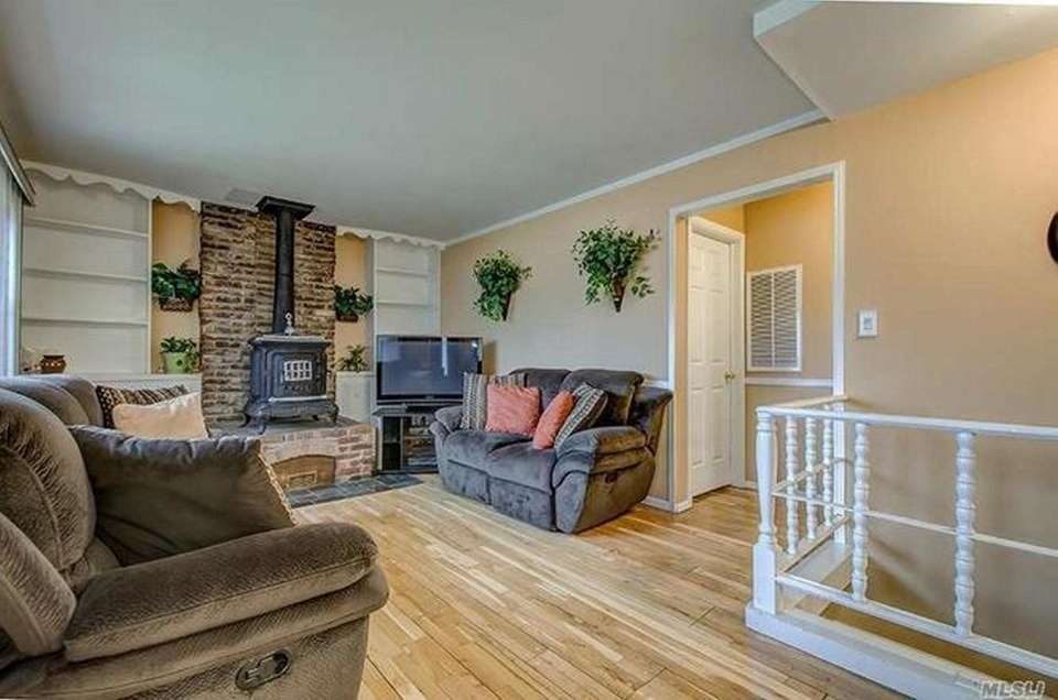 The living room in this Brentwood ranch includes