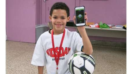 Kidsday reporter Alvin Lopez with the adidas Smart