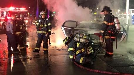 Inwood firefighters and emergency medical service crews at
