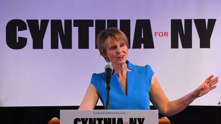 Cynthia Nixon, seen here in in Brooklyn on