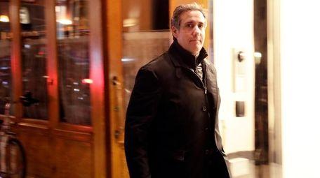 Michael Cohen, President Donald Trump's personal attorney, walks