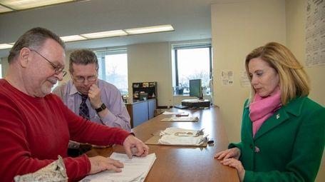 Hempstead Supervisor Laura Gillen files the lawsuit in